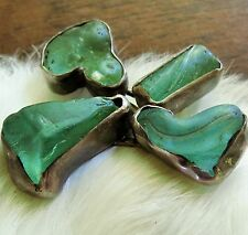 Fantastic Sea glass Beauty T.L. calif signed Sterling 925 brooch pin divp