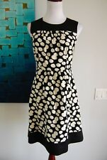 LEIFSDOTTIR DRESS ANTHOPOLODIE SIZE 4 WHITE POLKA DOTS