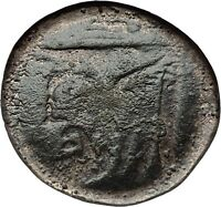 Akarnanian League Akarnania 250BC Athena River-God Archelous Greek Coin i59614
