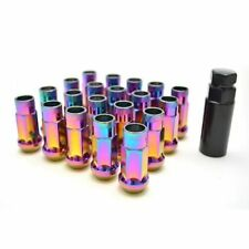 (20) 48MM TUNER STEEL NEO CHROME 20 PCS 12X1.5MM LUG NUTS OPEN END EXTENDED