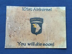 US 101st AIRBORNE VN WAR YOU WILL DIE SOON CALLING CARD FOR VIET CONG FIGHTERS