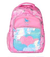 Smiggle Vva iChelsea Backpack Coral shiny Girl School bag rainbow tropic plants