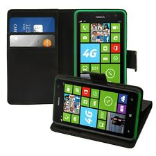 kwmobile Wallet Schutz Hülle für Nokia Lumia 625 Schwarz Etui Case Kunstleder