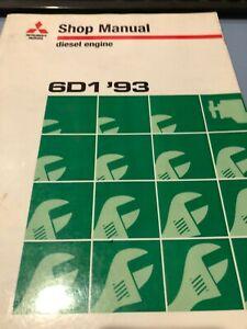 Mitsubishi Motors 6D1 93 Diesel Engine Work Shop  Service Manual