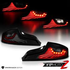 """DARKEST Smoke"" LED STRIP Tail Lights Assembly For 2003-2005 Infiniti G35 Coupe"