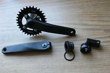 1x11 1x10 Alloy Oval Bicycle Crankset 32 Tooth 175mm Black w/Bottom Bracket Cups