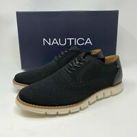 NAUTICA MEN'S WINGDECK LACED OXFORD SHOES Black SIZE 12 AN8923 NEW Fast Shipping