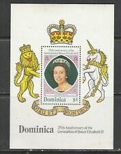 DOMINICA 1978 CORONATION MINIATURE SHEET MNH