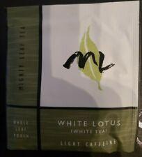 Mighty Leaf (ML) Tea White Lotus Flavor 20 Tea Foil Pouches RARE