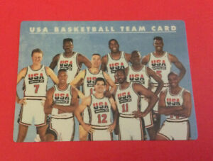 1992 Skybox Plastic USA Basketball Olympic Dream Team Card w/ Michael Jordan