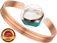 Magnétique Cuivre Santé Bracelet Arthrite Douleur Relief Cuff Bangle Wristband
