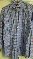 "Hugo Boss Miles US 100% Cotton Check Sharp Fit Shirt size 16.5"" BNWOT"