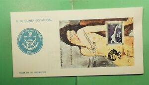 DR WHO 1976 EQUATORIAL GUINEA FDC CONCORDE FIRST FLIGHT OVPT S/S ART  g13003