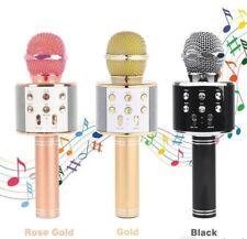 Mikrofon Bluetooth Lautsprecher Karaoke USB Musik Wireless Stereo drahtloses Aux
