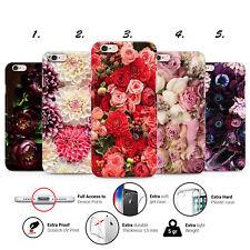 DAHLIA PEONY ROSE FLORAL PEONIES PLASTIC GEL PHONE CASE COVER IPHONE 5 6 7 8 X