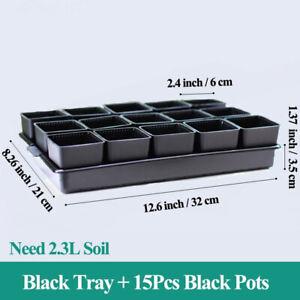 Flower Pots and Tray Succulent plants Meshpot Plastic Flowerpot Cactus Plant Pot