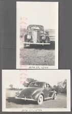 AUTO DE ÉPOCA fotos 1937 FORD AUTOMOBILE con / ABIERTA AZUL CIELO Paisajes