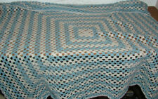 Vintage Retro style crochet Baby knitted blanket throw quilt