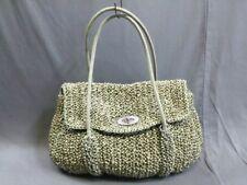 Auth ANTEPRIMA Wire Bag Gray Wire Satin Handbag