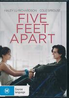 Five Feet Apart DVD NEW Region 4 Haley Lu Richardson Cole Sprouse
