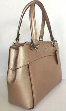 New Coach 25928 mini Brooke Carryall Leather Metallic Rose Gold