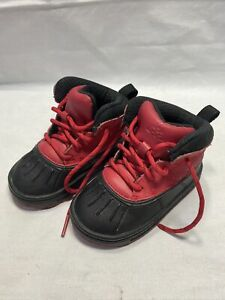 Nike ACG Woodside 2 Winter Boots Black & Red Toddlers Size 6C D1