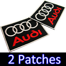 2 x AUDI Advertising Embroidered Iron On Patch Racing German automobile GERMANY