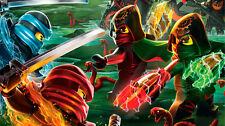 The lego ninjago movie 2017 Silk Poster/Wallpaper 24 X 13 inches