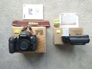 NIKON F6 35mm SLR CAMERA BODY + MB40 Battery Grip. Near mint with box.