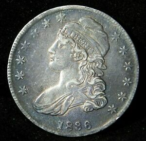 1836 Capped Bust Half Dollar 50C Ungraded Letter Edge US Silver Coin High Grade