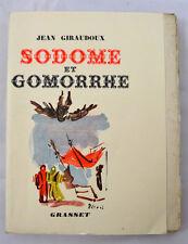 GIRAUDOUX Sodome et Gomorrhe EDITION ORIGINALE 1/8 SUR JAPON 1943