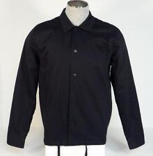 Hurley Black Sherpa Lined Snap Front Jacket Mens Medium M NWT