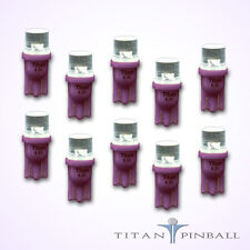 (10 Pack) - 6.3 Volt LED Bulb Flat Top 555 Base (T10) Pinball - PURPLE