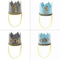 Newborn Baby Boy Girl 1st First Birthday Crown One Year Party Hat Headband Tiara