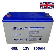Batterie scellée GEL 100Ah 12V ULTRACELL à décharge profonde Energie solaire