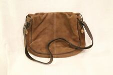 Vintage Lladro Handbag Crossbody/Shoulder 2 Types Brown Leather w/Ceramic Accent