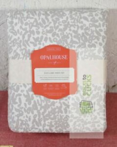 Opalhouse- Printed Easy Care Cotton Textural Sheet Set, Twin/Twin XL
