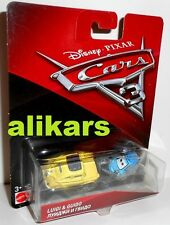 Disney Pixar Cars 3 Luigi e Guido automobile Mattel in Blister