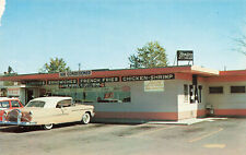 Tipton IN Brigg's Drive-In Restaurant Old Cars Postcard
