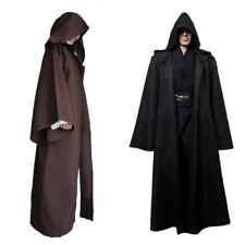 Star Wars Mens Cosplay Jedi Warrior Hooded Cloak Robe Costume Outfit Fancy Dress