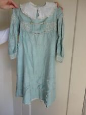 Liberty & Co London Antique Arts & Crafts Childs Embroidered Silk Dress 1910s