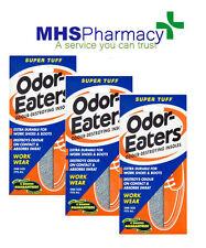 3 Pairs - Odor-Eaters SUPER TUFF Deodorising Insoles