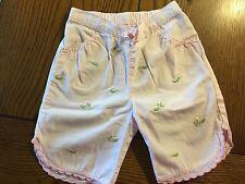 *Gymboree* Girls Sweet Nothings Pink Pea Pod Capri Pants Size 6-12 Months