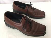ECCO Mens 39 5 /5.5 Casual Dress Shoes Brown Leather Lace Up Oxford 5-1/2
