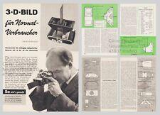 Bauplan / Bauanleitung Stereovorsatz für Kleinbildkameras - Original von 1959