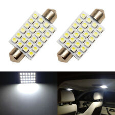 2 x White LED Interior Map Dome Trunk Light 42mm 578 211-2 212-2 Festoon Bulbs