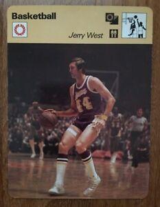 1977 Jerry West Sportscaster Card 08-10