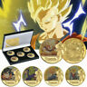 5pcs Dragon Ball Z Gold Commemorative Coin Goku Vegeta Collection In The Box