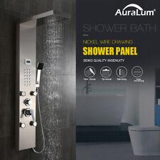 Edelstahl Duschpaneel Duschsäule Regendusche mit Massagedüsen Handbrause Dusche