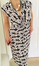 LEONA BY LEONA EDMISTON WOMENS DRESS FLORAL PRINT V Neck STRETCHY Sz 8